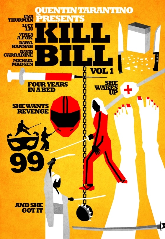 Posters de cinema minimalistas - Kill Bill vol 1