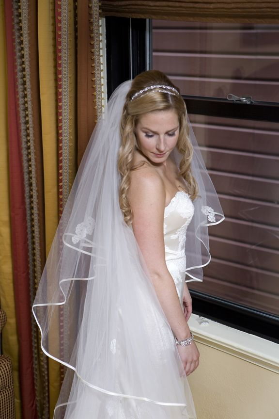 Wedding Hair Half Up With Headband And Veil Wedding
