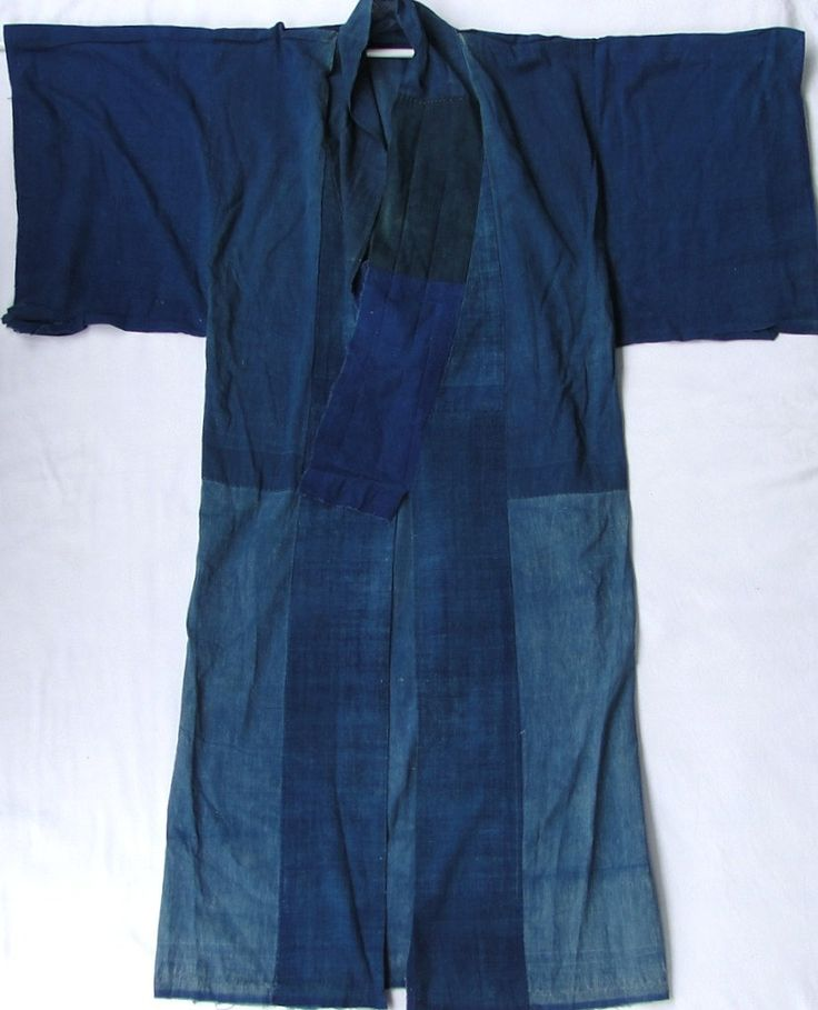 BORO Kimono no Ura / Shita. Japanese Indigo / Aizome. 1800s #japanese #indigo #1800s #kimono #boro