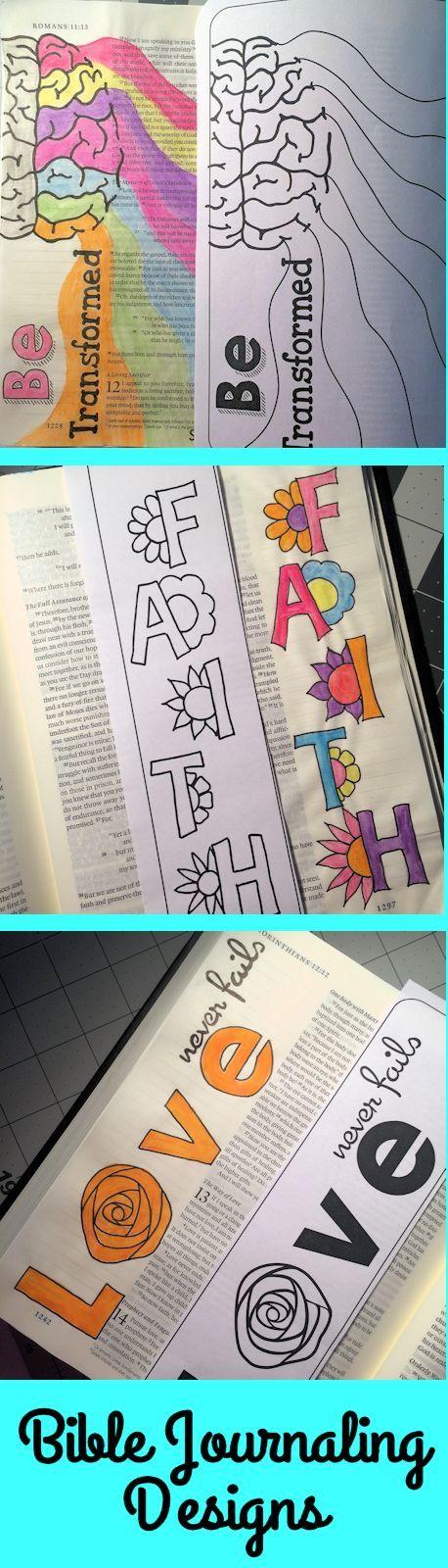Bible Journaling Color Set. Digital Downloads.