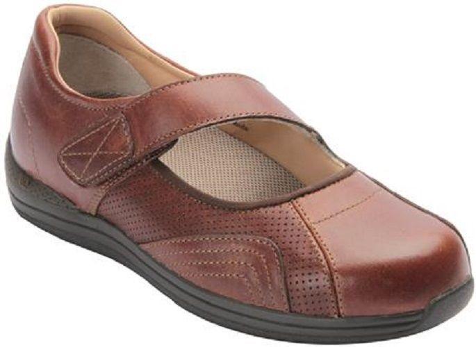$166 Drew Women's Heather Comfort Orthotic Diabetic Mary Jane Shoes Brandy  8.5 #Drew #MaryJanes