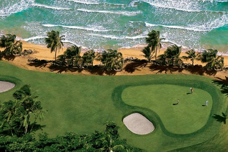 Rio Mar Ocean Course - a putting green with a view!