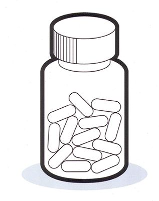 Medicine Bottle Coloring Pages