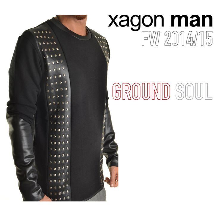 Nuova felpa con applicazioni collezione GROUNDSOUL fw14 #xagonman