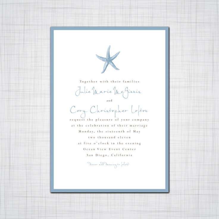 17 best ideas about beach wedding invitations on pinterest | beach, Wedding invitations