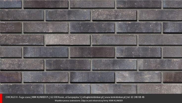 Chicago Graphite - Cegły klinkierowe