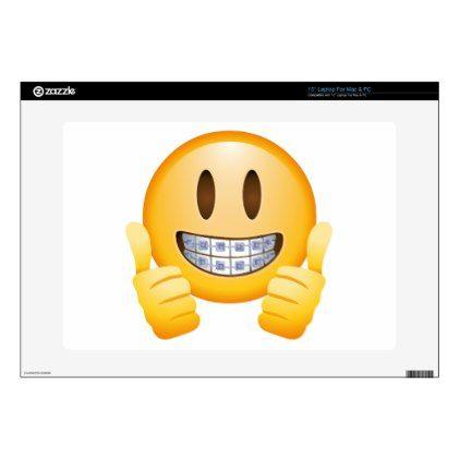 Geeky Braces Emoji Laptop Decals - diy cyo personalize design idea new special custom