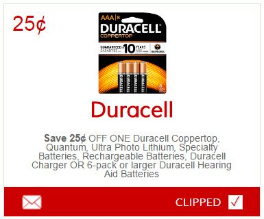 Duracell battery coupons printable