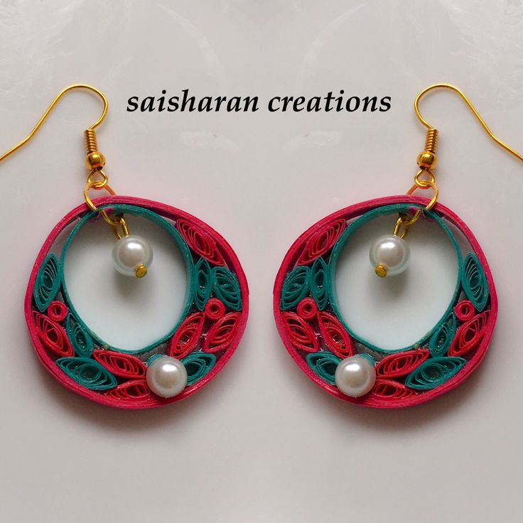 Quilling Papers Earrings: 17 Best Images About Paper Crafts On Pinterest