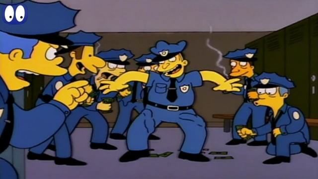 Threatening letters-The Simpsons
