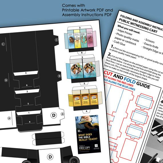 Download and Assemble Mini Public Witnessing Cart por SketchBuch
