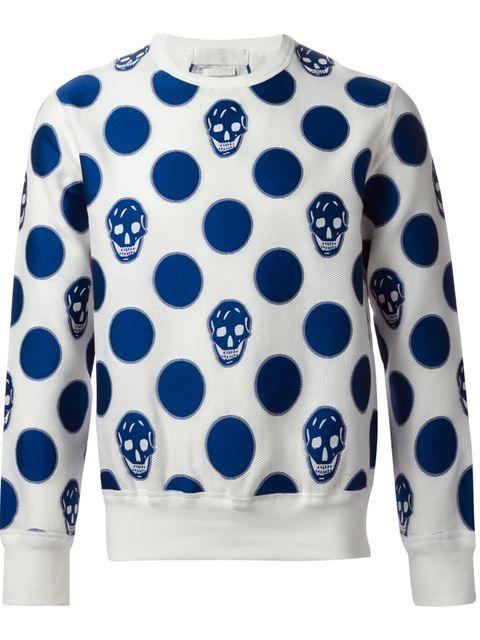 Alexander Mcqueen Skull And Polka Dot Sweatshirt - Luisa Boutique - Farfetch.com