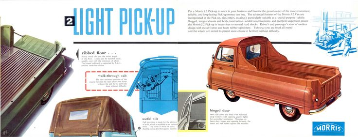 1958 Morris Type J2 Light Pickup