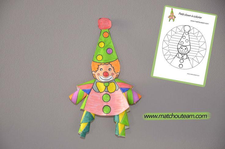 Clown en papier : le coloriage pas comme les autres |     Un coloriage qui transforme ce petit  clown en 3D