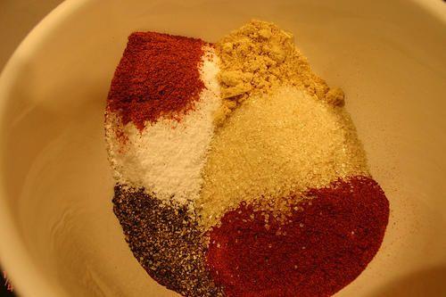 Le mélange dry rub  épices bbq