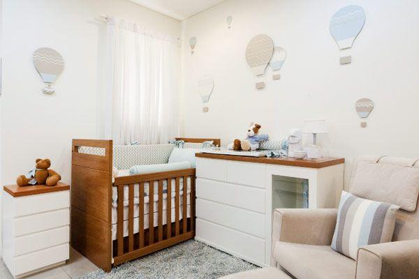 Decoração Detalhes Quarto de Bebê Azul Menino  - Balão (Arquitetos: Berta Gonçalez)