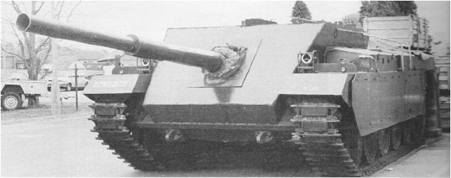 """JagdChieftain"" - British project of tank destroyer based on Chieftain's chassis."