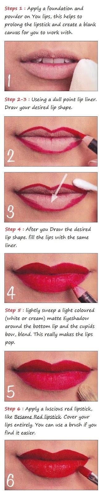 Glamorous Red Lips Tutorial