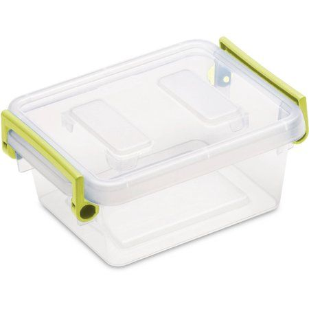 Sterilite 1.2 Quart Modular Latch Box- Bamboo Grass (Available in Case of 6 or Single Unit), Green