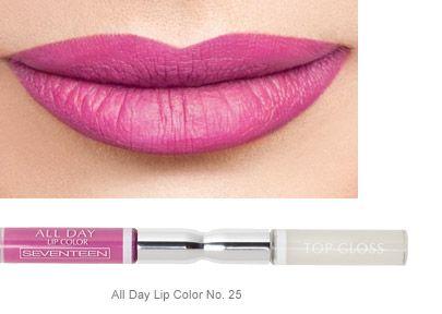 POP MAKEUP | Seventeen Cosmetics All Day Lip Color No.25 #Seventeen #Cosmetics #lipstick