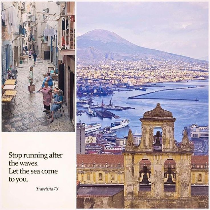 """""""Stop running after the waves. Let the sea come to you."""" - Elif Shafak  Napoli Italy"""