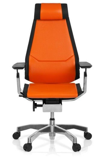 Mehr #Farbe Fürs #Büro: #Bürostuhl / #Drehstuhl GENIDIA PRO #Leder #orange  Von #hjh #OFFICE ...