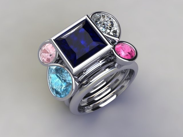 'Magic Moments' stacker ring available at  www.lucymecklenburghjewellery.com in association with www.diamondgeezer.com