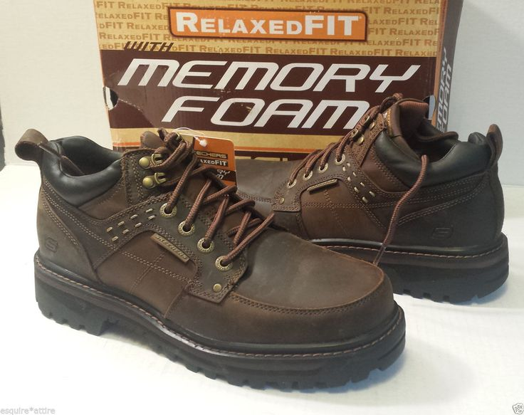 SKECHERS men #shoes size 10 Relax Fit Memory Foam heavy working shoes leather visit our ebay store at  http://stores.ebay.com/esquirestore