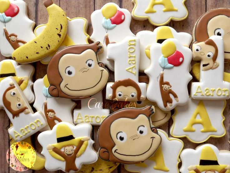Curious George cookies | Cookie Connection