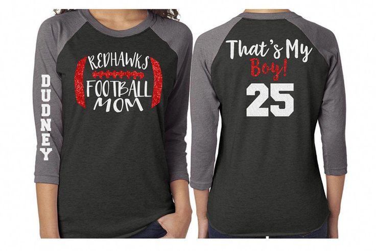Football mom shirt glitter football shirt thats my