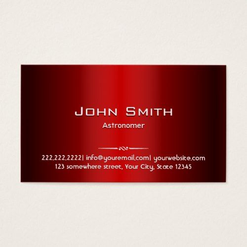 20 best video game business cards images on pinterest card professional red metal astronomer business card reheart Choice Image