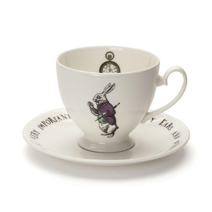 Mrs Moore's Vintage Store / Tasse à Thé & Soucoupe White Rabbit