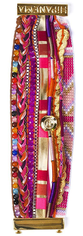 Brazilian bracelet HIPANEMA HIPPIE...instead of tying on all those bracelets, pretty clasp connects them all with a snap...pretty for summer, beach
