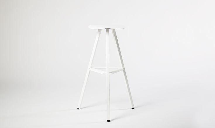 LIXHT ST-002W Bar Stool | #LIXHT #Minimal #Furniture #Design