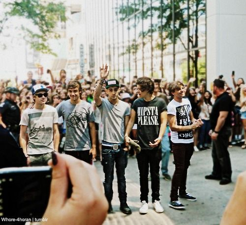 Found this picture and see the green shirt by zayn's arm. That's me! OMG!! That was the best day of my life! :)