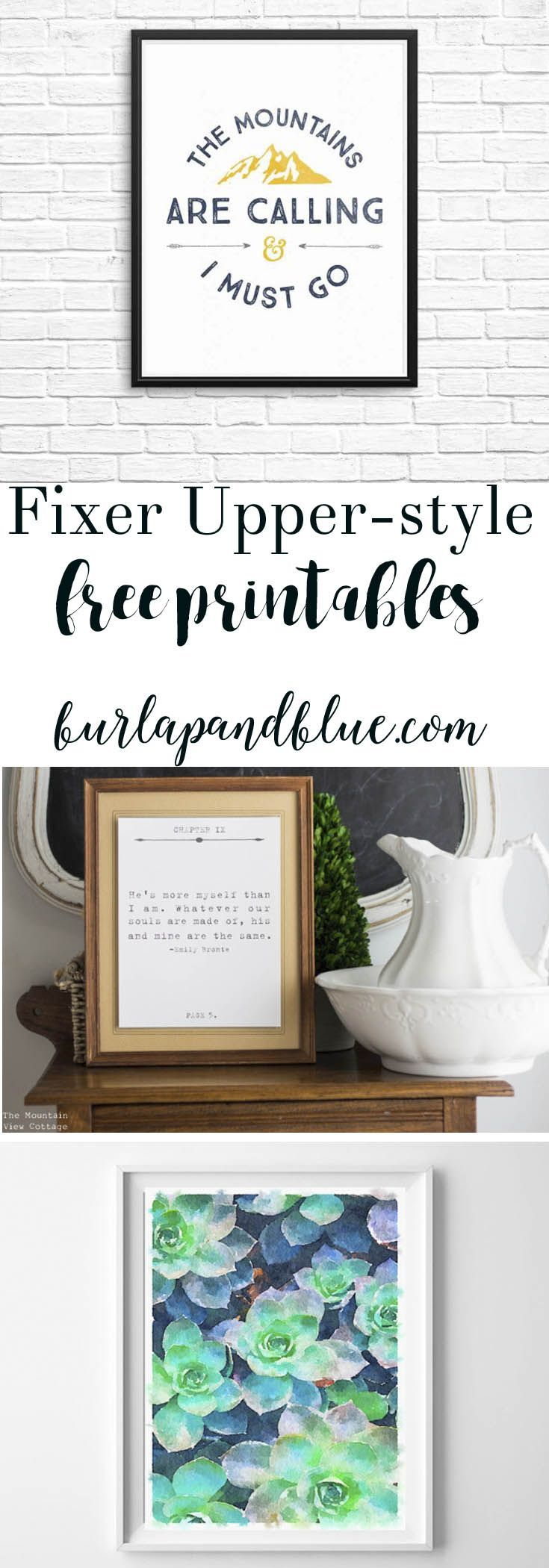 Love Fixer Upper? Sharing over 35 printable favorites in the rustic, farmhouse Fixer Upper style!