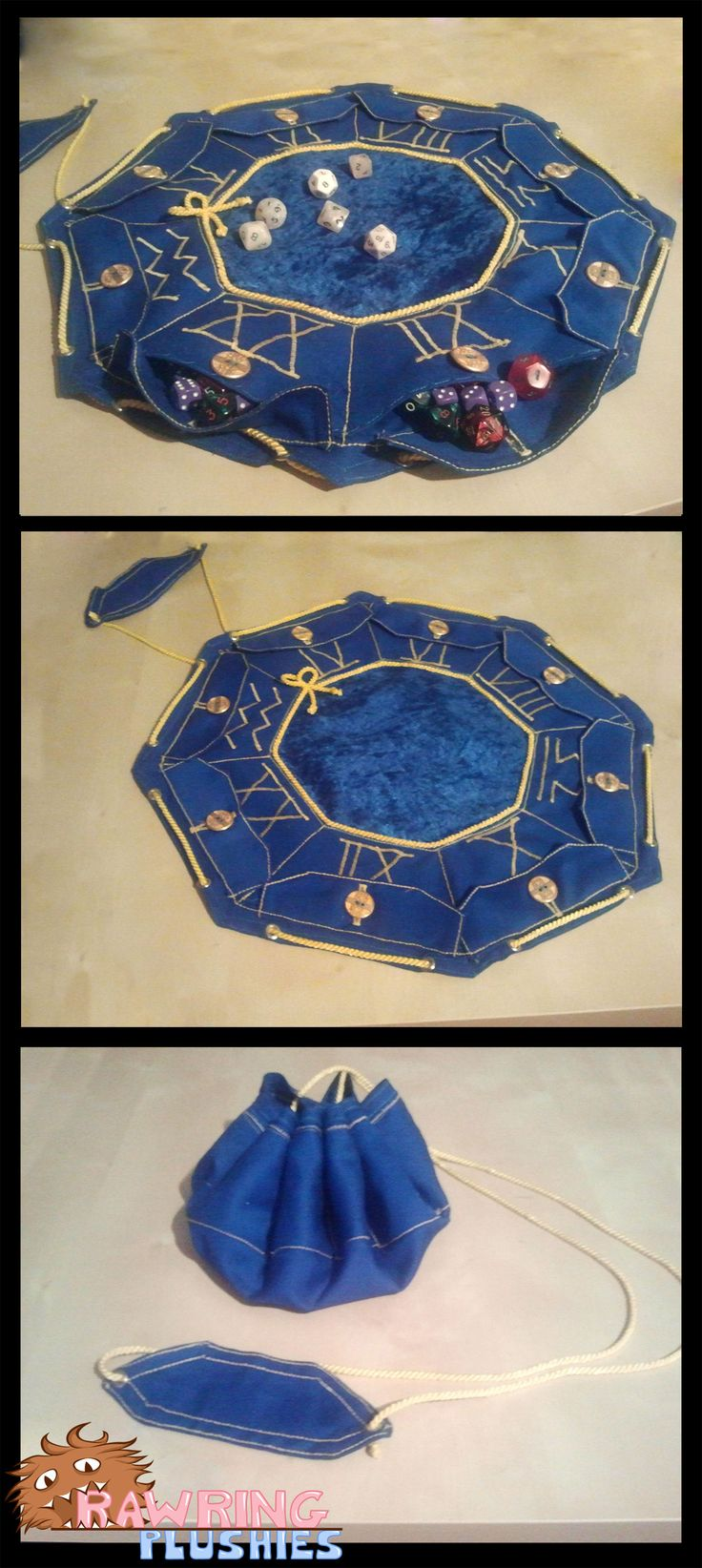 The Wizard's Pouch. Personally I think it'd be great also as a healers 'herb' pouch a poisoner's 'poison' pouch, or a diviner's 'divining' pouch where they could use each pocket for different diving tools! :)