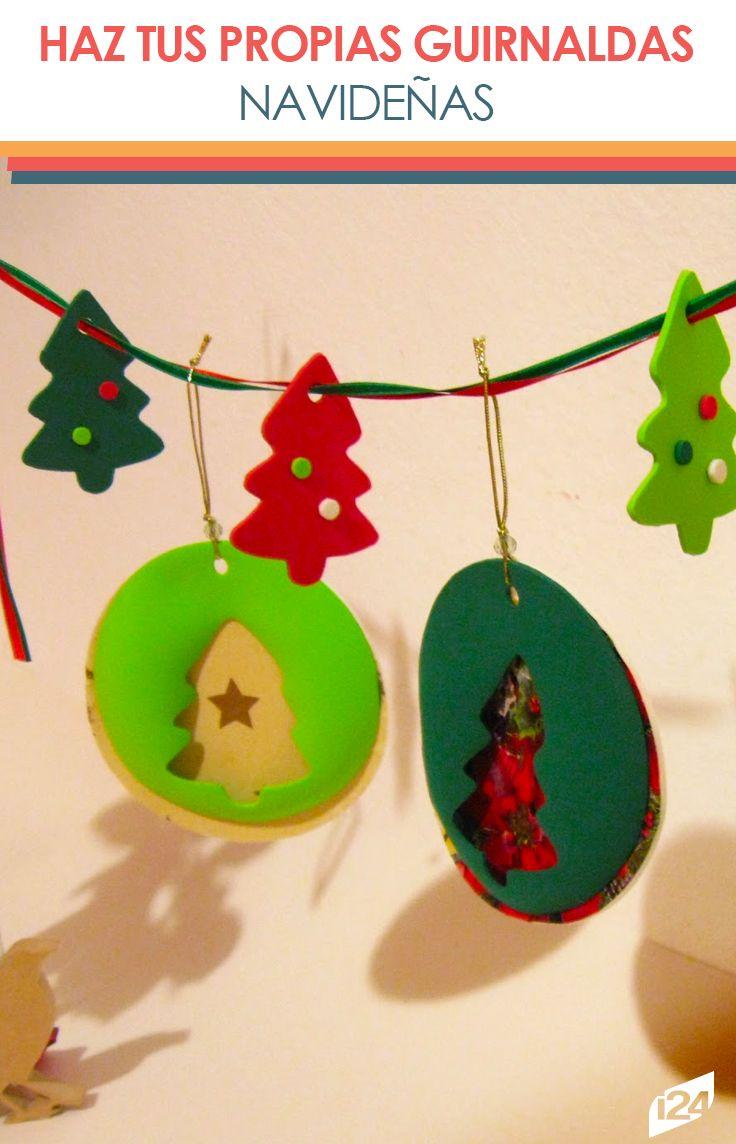 Decoraciones únicas y originales que puedes lograr tú mismo #navidad #christmas #decoración #guirnaldas