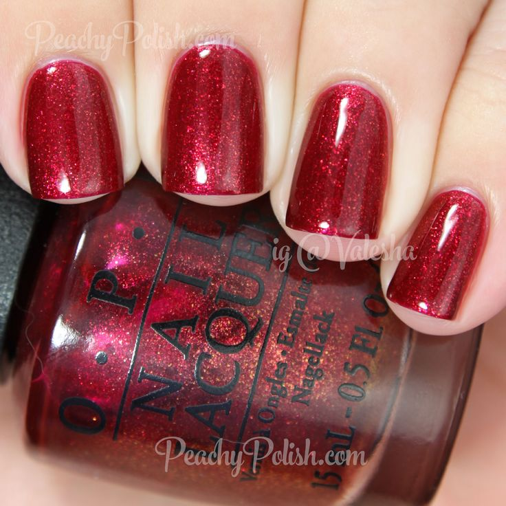 OPI Red Fingers & Mistletoes | Holiday 2014 Gwen Stefani Collection | Peachy Polish