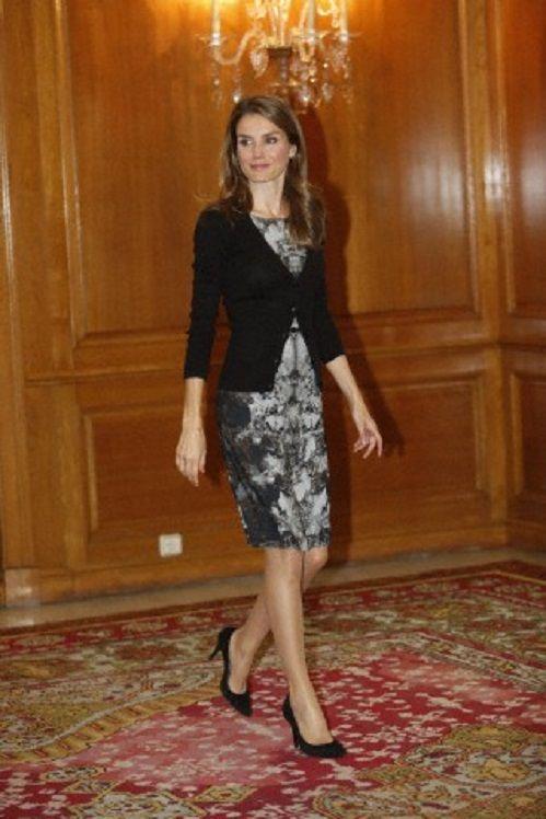 Crown Princess Letiza of Spain attend audiences at La Reconquista Hotel to attend 2013 Principe de Asturias Awards.
