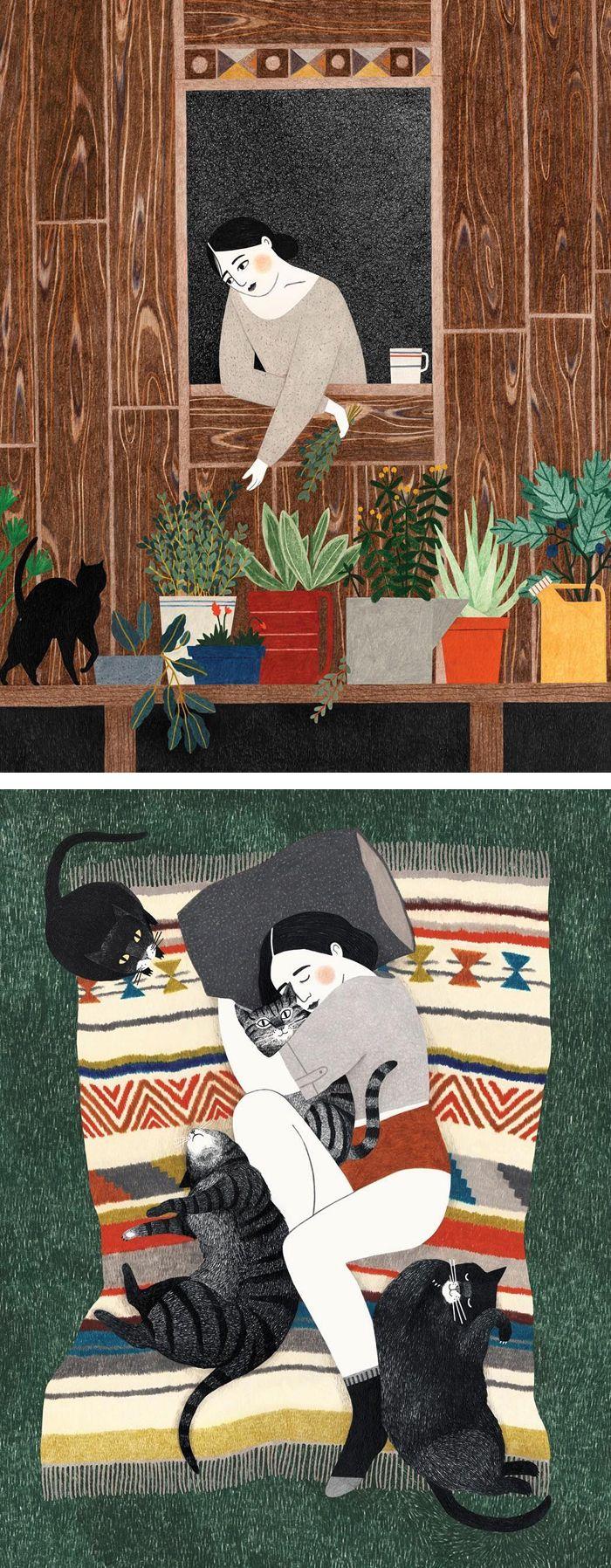 Illustration works by Lieke van der Vorst #illustration #coloredpencildrawing #coloredpencils #illustrationart