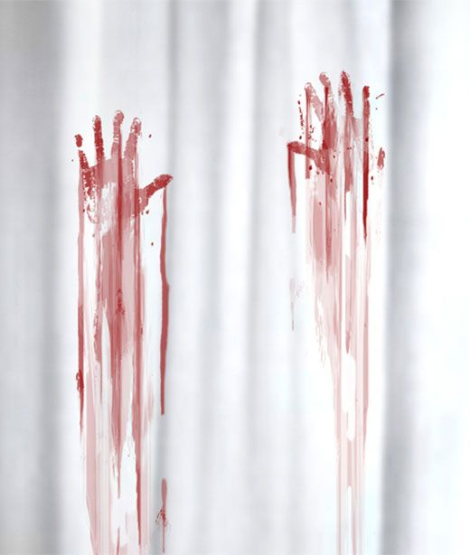 i have a passion for these particular pictures thank you so much for sharing blood bath shower curtain perfect for the guest bathroom at halloween - Bloody Halloween Decorations