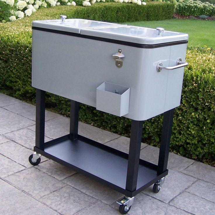 Oakland Living 80 qt. Patio Cooler Cart - 90010-MT