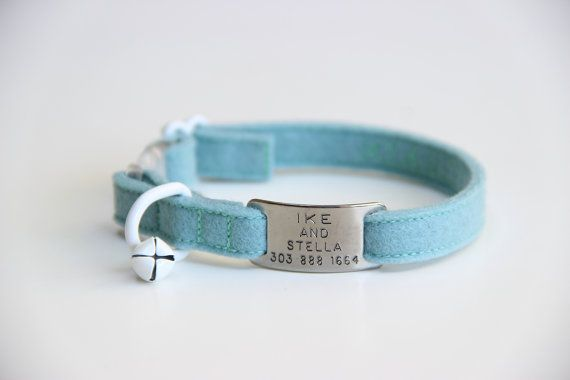 Add ID Tag to My Cat Collar by ikeandstella on Etsy, $15.00