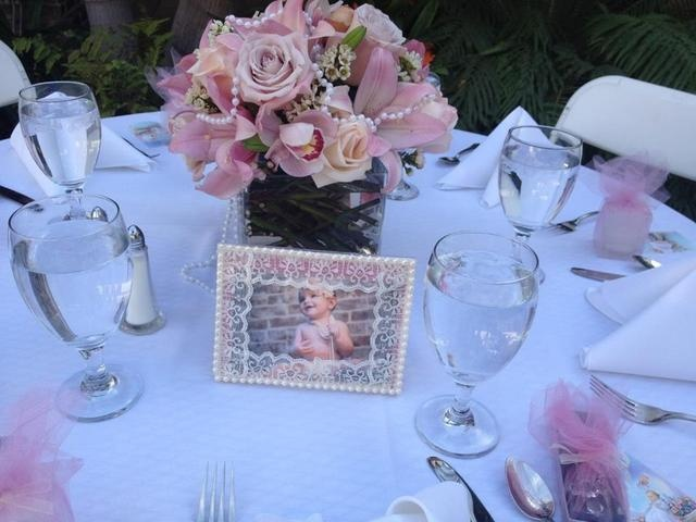 love centerpiece and frame