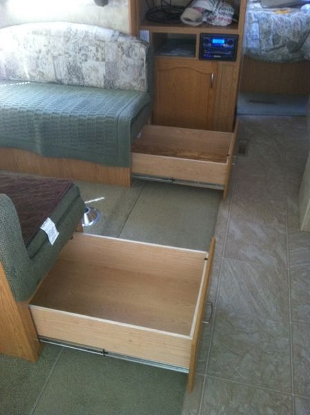 RV.Net Open Roads Forum: Travel Trailers: Adding drawers under bed and dinette?