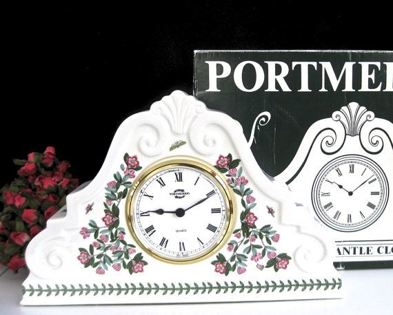 Portmeirion Large Mantel Clock  OLD LIKE by KatesChockfullAttic