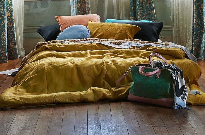 kip and co doona covers - mustard bedspread