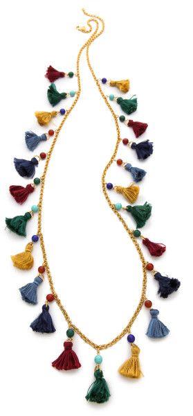 Long Mini Tassel Necklace - Lyst