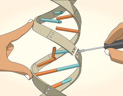 """Check out new work on my @Behance portfolio: """"DNA manipulation - vector illustrations"""" http://on.be.net/Z4EvPP"""